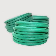 Polywood โพลีวูด - สายยางสีเขียวริ้ว ขนาด 5/8'' (5หุน)